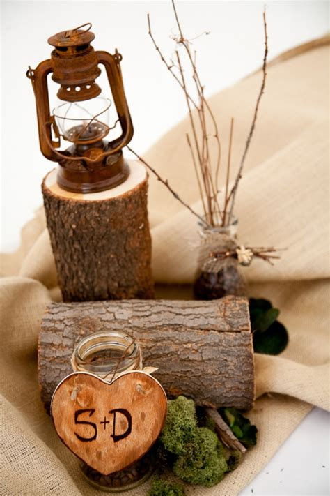 wood wedding centerpieces wood inspired wedding centerpieces the wedding