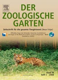 Der Zoologische Garten by Der Zoologische Garten Zeitschrift Abo