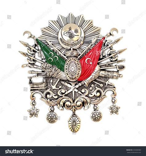 ottoman emblem ottoman empire emblem turkish symbol isolated