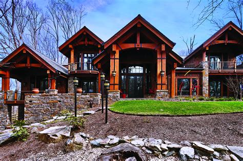 Spanish Villa House Plans amazing wooden and stone mountain style home designs