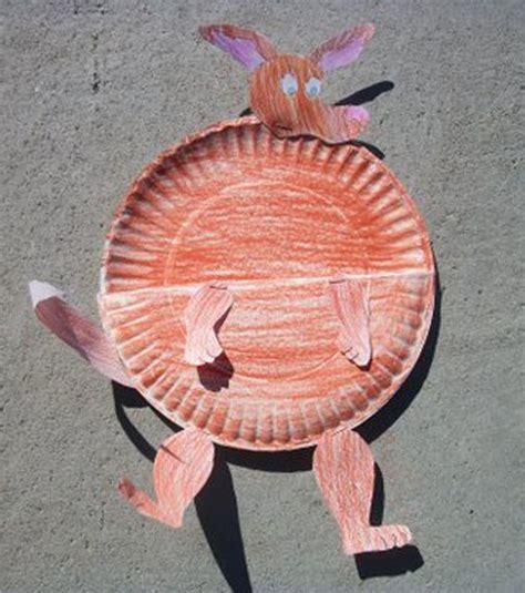 kangaroo paper craft kangaroo paper plate k is for kangaroo preschool theme