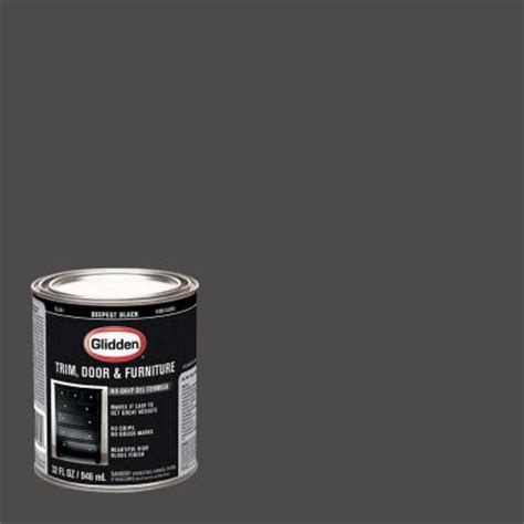 home depot paint for trim glidden trim and door 1 qt deepest black gloss interior