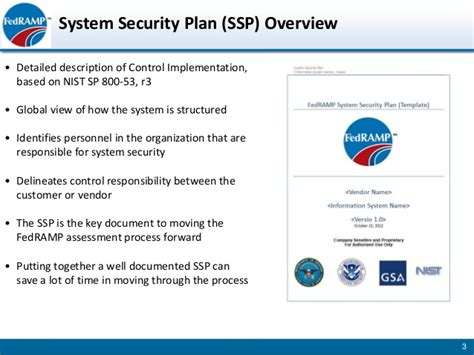 fedramp developing system security plan slides