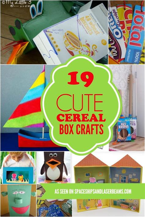 cereal crafts for 19 cereal box crafts spaceships and laser beams