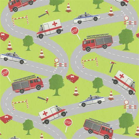 Childrens Car Wallpaper Uk by Rasch Engine Car Ambulance Childrens