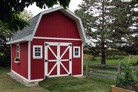 Barn Style 12 215 16 tall barn style gambrel roof shed plans