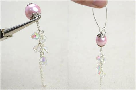 how to make jewelry earrings diy vintage jewelry handmade earrings with pearl lantern