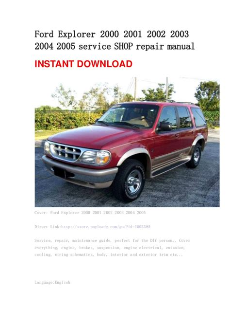 car service manuals pdf 2000 ford explorer sport trac electronic valve timing ford explorer 2000 2001 2002 2003 2004 2005 service shop repair manual