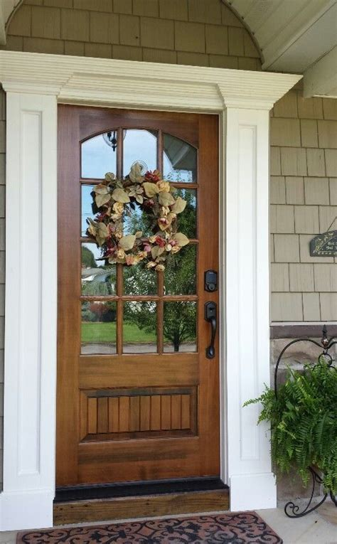 wood glass front door 25 best ideas about farmhouse front doors on