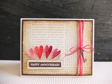 papercraft card ideas happy anniversary card mayholic in crafts