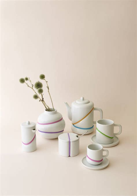 rubber st collection porcelain rubber band tea pot by array collection
