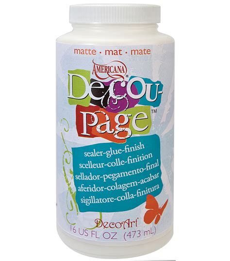 how to make decoupage glue decoart americana decoupage glue 16 oz matte jo