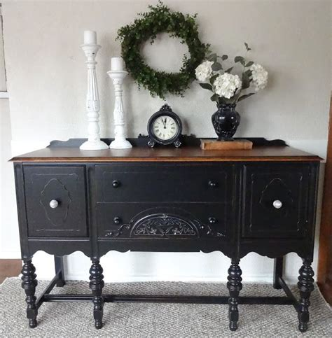 chalk paint furniture in black 25 best ideas about antique buffet on painted