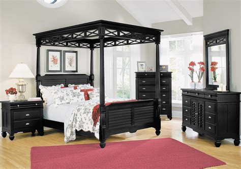 bedroom furniture canopy bedroom furniture plantation cove black canopy bed