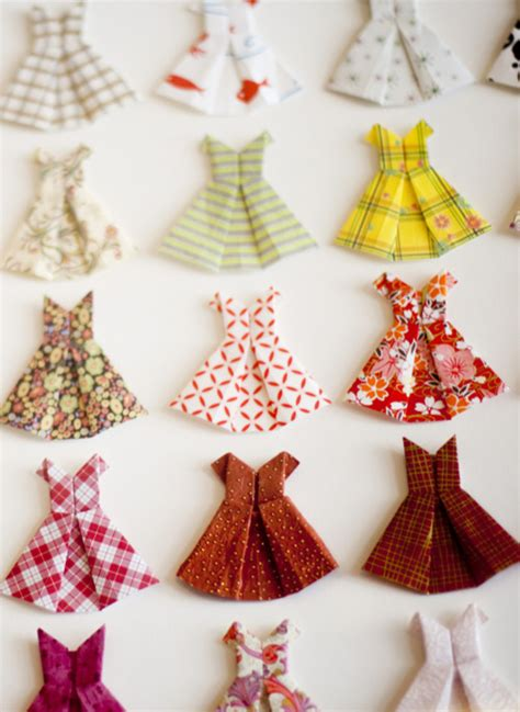 origami dresses for of giving origami paper dress card