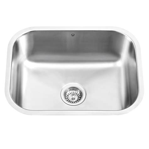 stainless steel undermount single bowl kitchen sink vigo undermount stainless steel 17 8 in single bowl