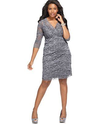 plus size beaded cocktail dresses marina plus size dress 3 4 sleeve beaded lace cocktail