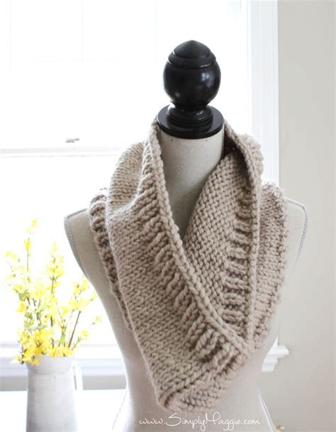 free cowl knitting patterns chunky tri style knit cowl pattern free simplymaggie