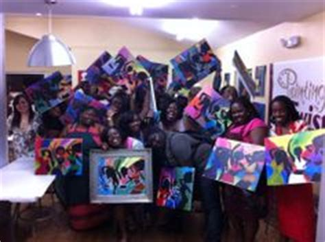 paint with a twist la marque girlfriends on twists paintings and paint
