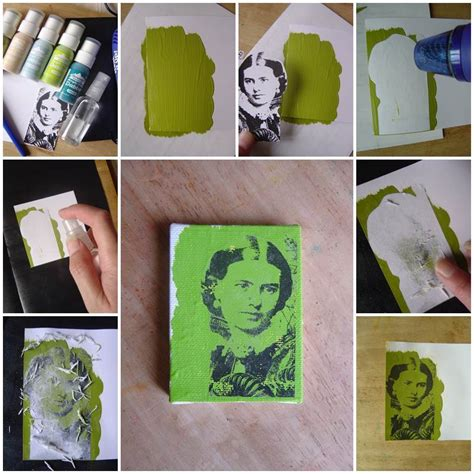 acrylic painting diy diy photo transfer using acrylic paint