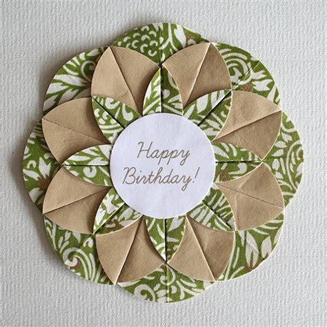 origami birthday card green swirls origami happy birthday card cards