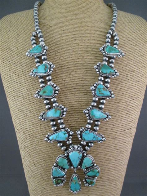 how to make turquoise jewelry turquoise squash blossom necklace earring set