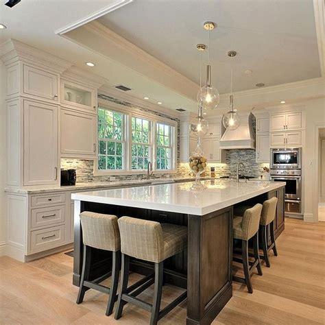 how big is a kitchen island best 25 large kitchen design ideas on
