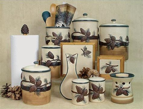 kitchen and bathroom accessories pine cone canister set quotes