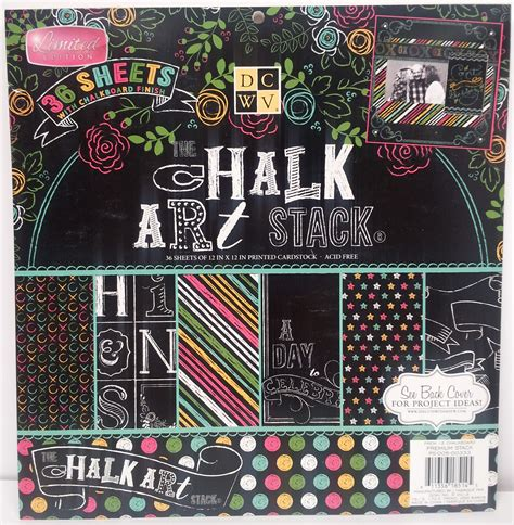 chalkboard craft paper dcwv paper pack collection favecrafts