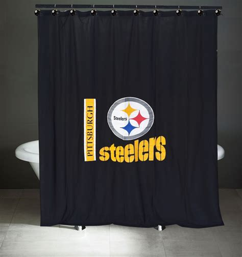 pittsburgh steelers bathroom accessories nfl shower curtains sports coverage 174 nfl team shower