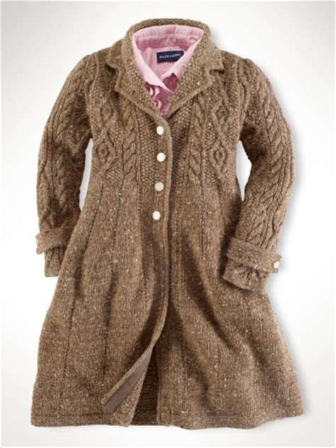 coat knitting pattern marled sweater coat brown knit