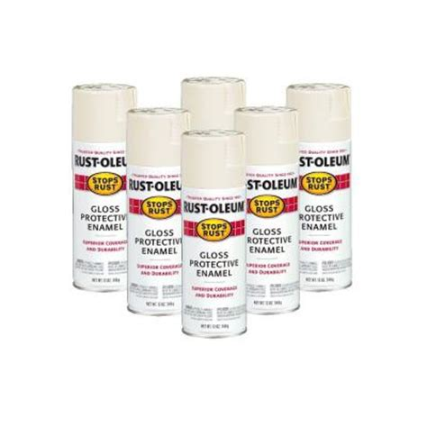 home depot paint color antique white rust oleum stops rust 12 oz gloss antique white spray