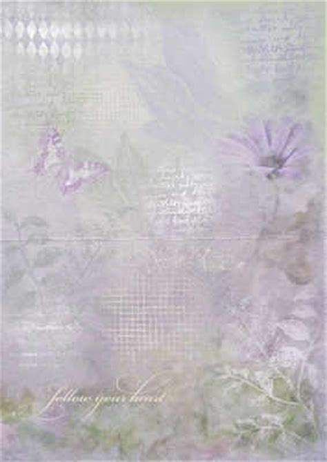 backing papers for card lilac floral and script paper