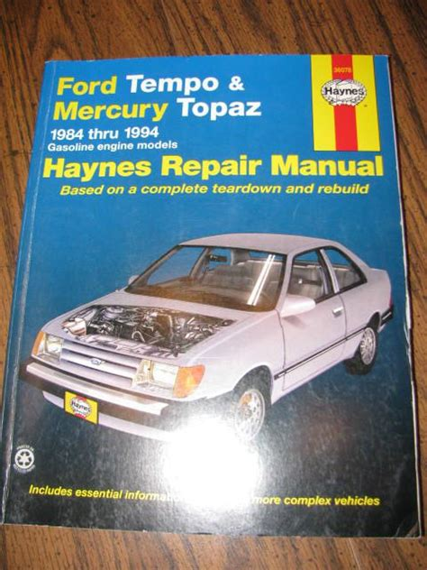 ford tempo mercury topaz haynes repair manual 1984 sell 1984 1994 haynes repair manual ford tempo mercury topaz motorcycle in lebanon tennessee