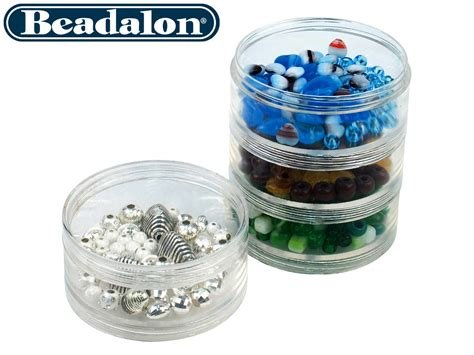 bead storage containers beadalon large bead storage stackable containers four per