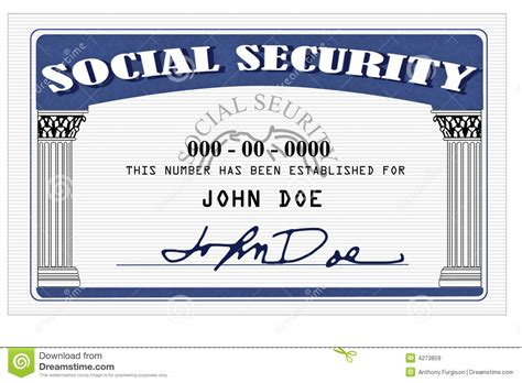 how to make a social security card social security card stock image image of isolated