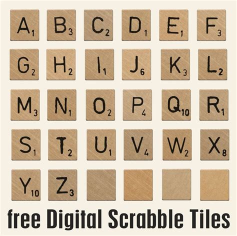 free scrabble for scrabble tiles font zoeken printables