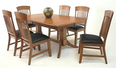 set of dining table and chairs suburban home trestle dining table and chair set broadway