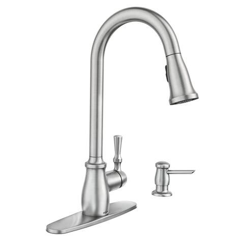 moen pull kitchen faucet moen 87808srs fieldstone single handle pull sprayer kitchen faucet vip outlet