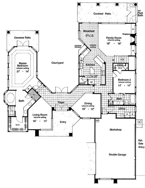 floor plans with courtyard two story courtyard house plan 6382hd architectural designs house plans