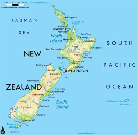 new zealand road map of new zealand and new zealand road maps