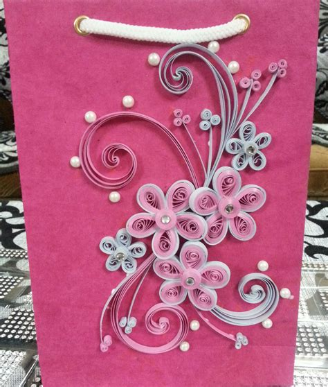 paper craft design handmade quilled gift bags paper quilling shopping