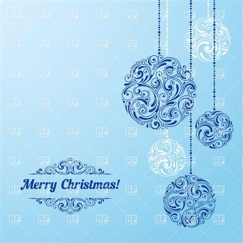 blue ornament balls hanging ornament balls on blue background