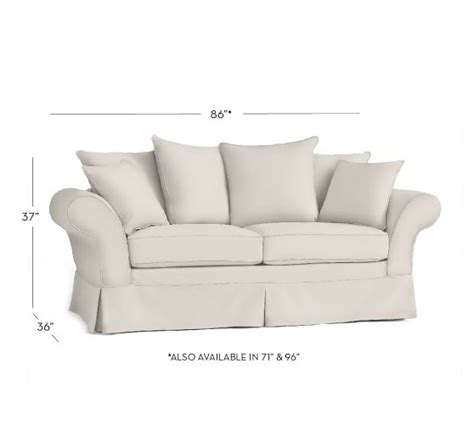 charleston sofa slipcover charleston slipcovered sofa pottery barn