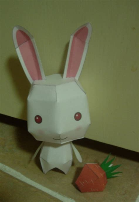 paper craft rabbit bunny and carrot papercraft by spankersthepirate on deviantart