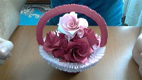 how to make origami flower basket how to make 3d origami basket with flowers model 2