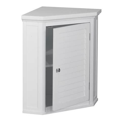 Corner Bathroom Cabinet White by 1 Door Corner Wall Cabinet In White Elg 587