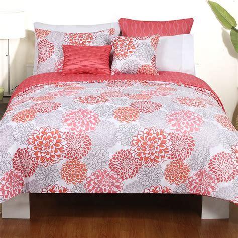 coral comforter sets coral and grey bedding sets home furniture design