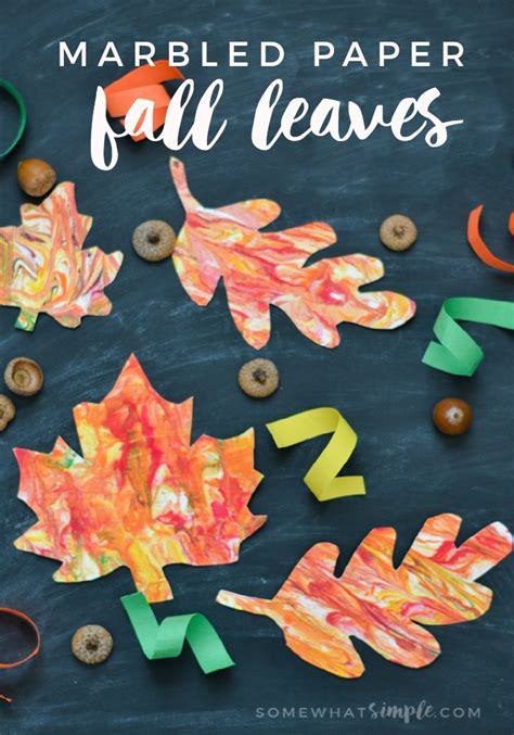 marbled paper craft fall crafts for the crafting