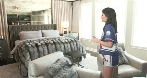 jenner gives tour of bedroom in new calabasas
